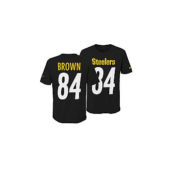 Nike Nfl Pittsburgh Steelers Antonio Brown Jugend stolz Name und Nummer 3.0-t-shirt