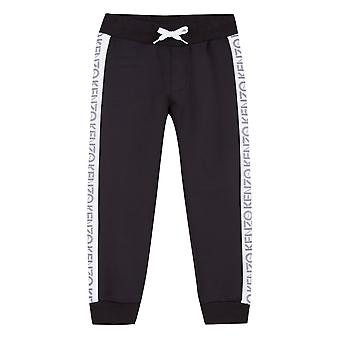 Kenzo Junior Sport Side Panel logotyp 8 joggare (svart)