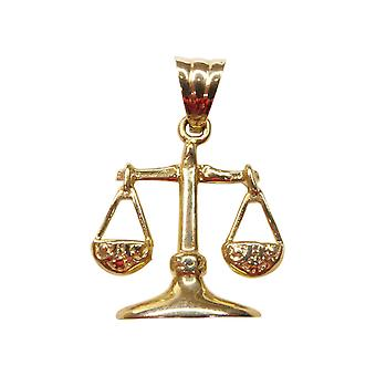 Gold Libra pendant