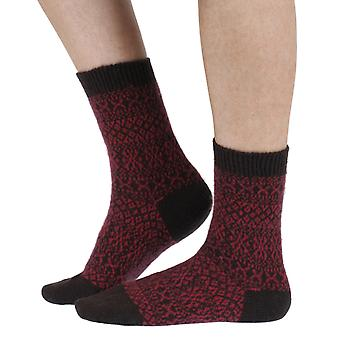 Faith luxury women's cashmere crew socks in chocolate | By Pantherella