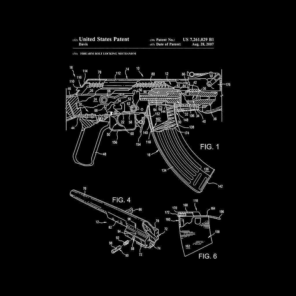 AK-47 Gewehr Patent Blueprint Damen Sweatshirt on