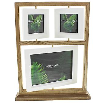Juliana Amazonia Wooden Suspended Collage Photo Frame - Brown/White
