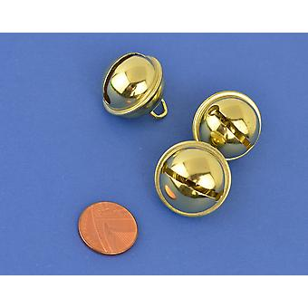 3 Gold 24mm Cat Bell Style Jingle Bells for Crafts   Craft Bells   Arts & Crafts
