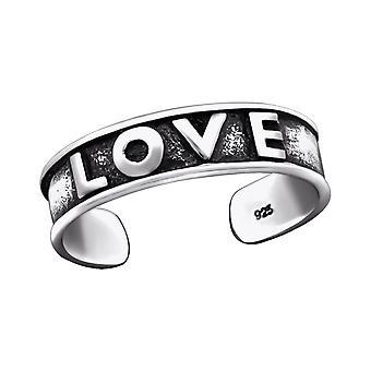 Love - 925 Sterling Silver Toe Rings - W29416x