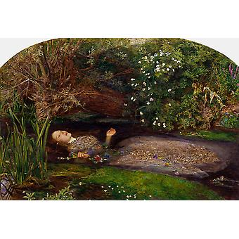 Ophelia, Sir John Everett Millais, 40x60cm with tray