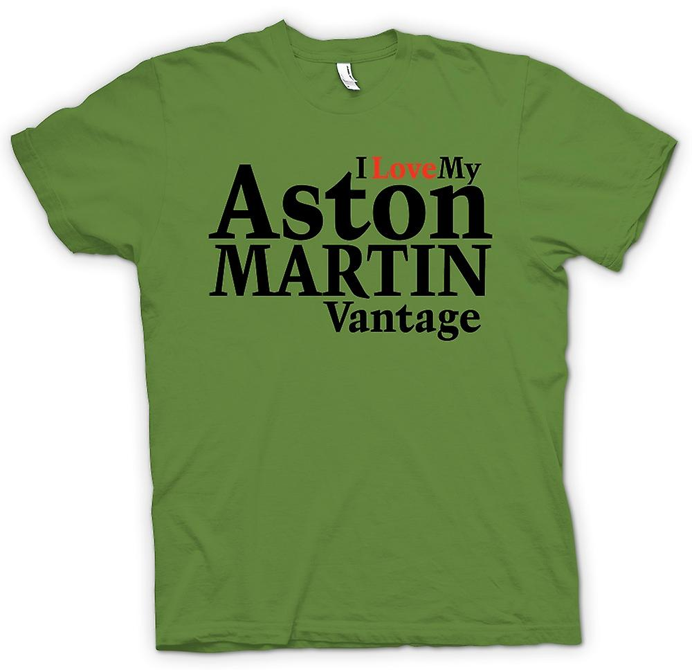 Mens T-shirt - I Love My Aston Martin Vantage - Car Enthusiast