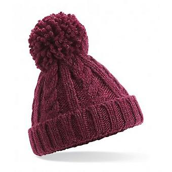 Beechfield niños Cable Knit Beanie Melange