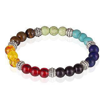 Skipper stone bracelets elastic colored beads bracelet 7779