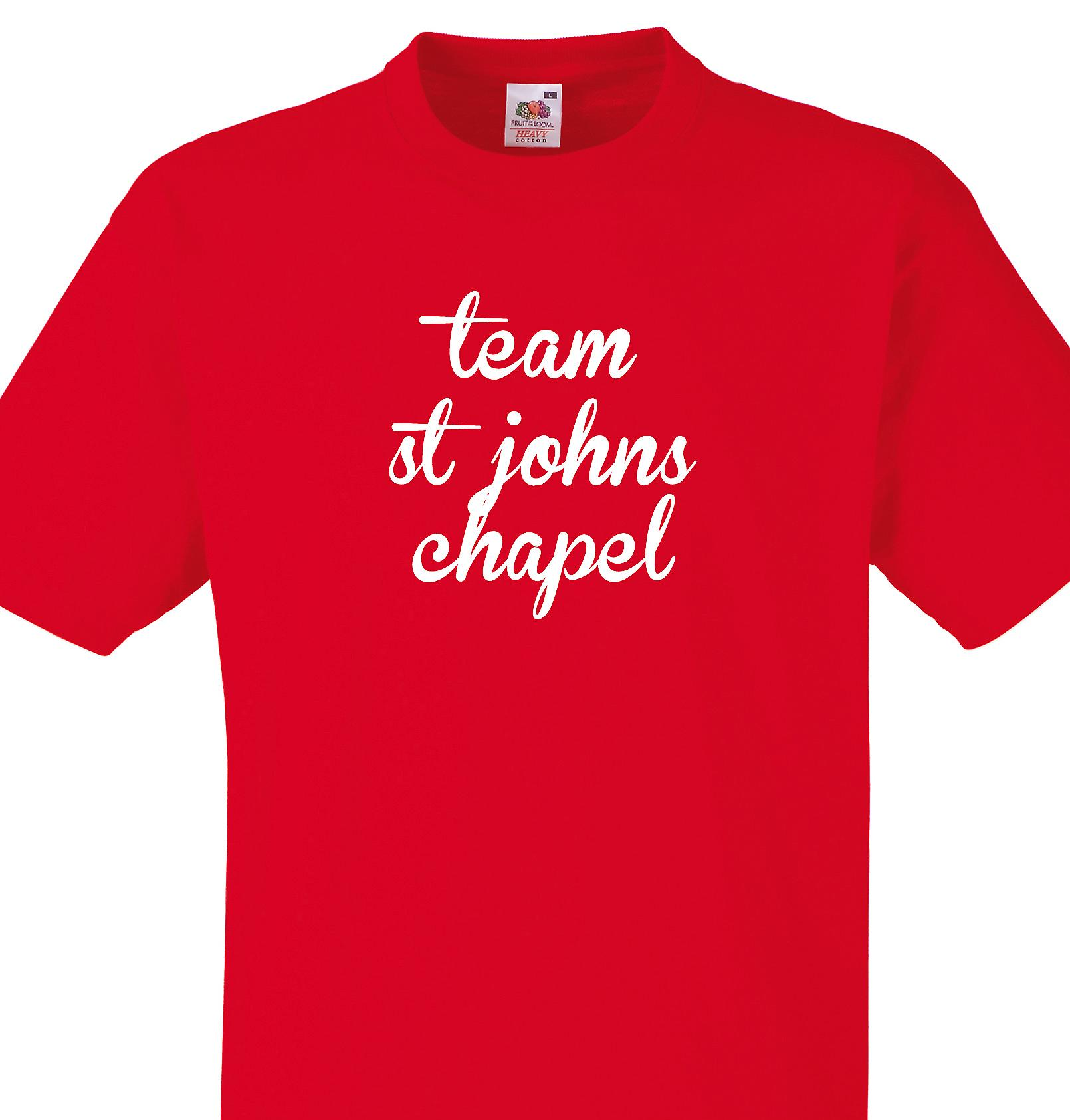 Team St johns chapel Red T shirt