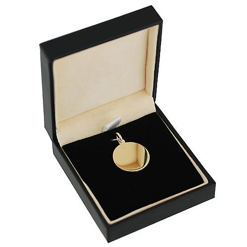 9ct Gold 20mm plain round Disc