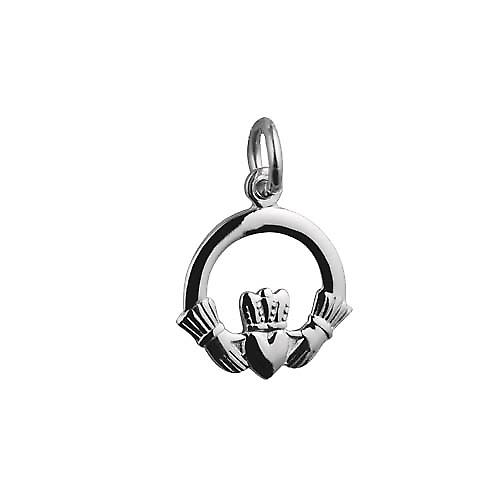 Silver 15mm Claddagh Pendant or Charm
