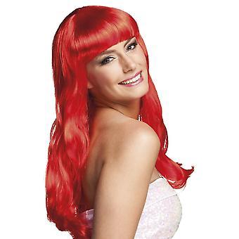 レディースかつらシックな赤い派手なドレス アクセサリー