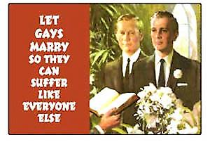 Let gays marry so... fridge magnet