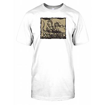 Join or Die serpente - Benjamin Franklin Mens T-Shirt