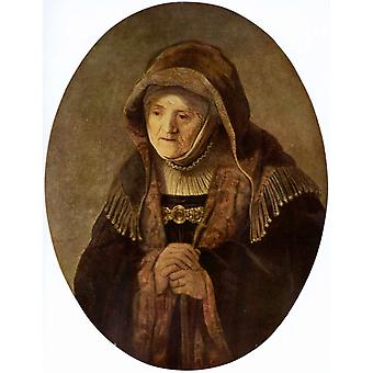The artist-s mother as the prophetess Hannah,REMBRANDT,50x40cm