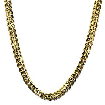 18K guld Plated Franco boks cubanske kæde 8mm - rustfri stål
