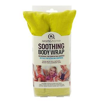 Aroma Home Fine Cord Soothing Lavender Wheat Bag: Lime