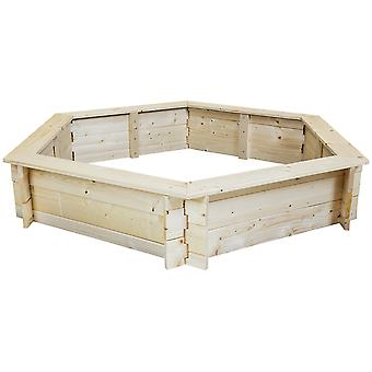 Charles Bentley Kinder Kinder Outdoor Sechseck Holz Sand Pit Box Spielbereich