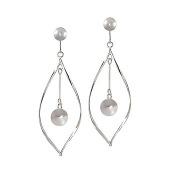 Eternal Collection Calista Sterling Silver Drop Clip On Earrings
