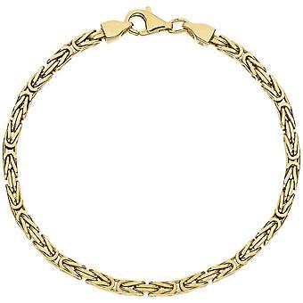 Король браслет 925 стерлингового серебра позолоченный браслет diamantiert 19 см