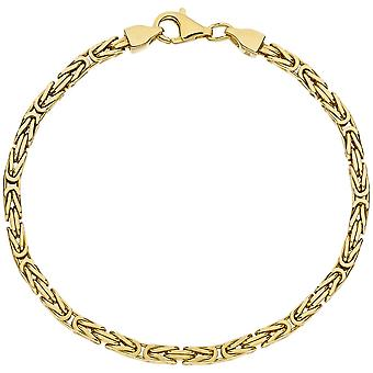 Koning armband 925 sterling zilver verguld 19 cm armband diamantiert