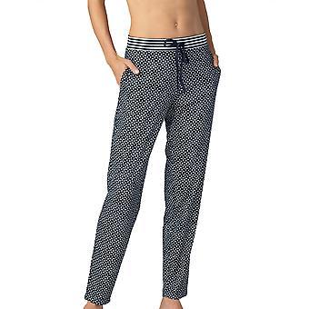Mey Women 16961-408 Women's Night2Day Isi Night Blue Geometric Print Cotton Pyjama Pant