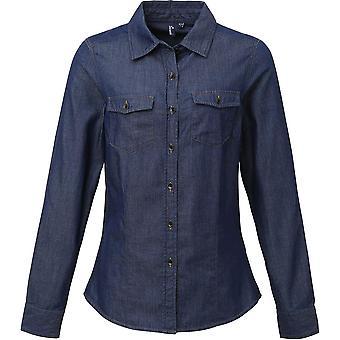 Premier - Chemise en denim Jeans Stitch Pour Femmes