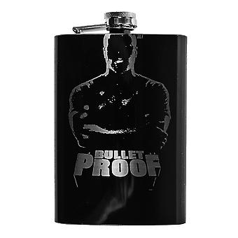 8oz black bullet proof flask l1