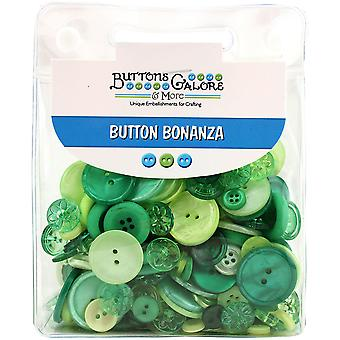 Button Bonanza .5lb Assorted Buttons-Rainforest BB-40
