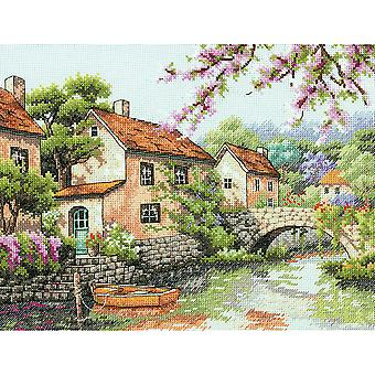 Village Canal Counted Cross Stitch Kit-13