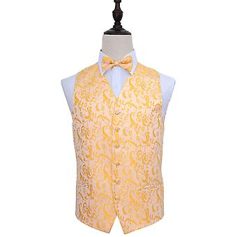 Passion Gold Wedding Waistcoat & Bow Tie Set
