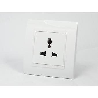 I LumoS AS Luxury White Plastic Arc Unswitched 3 Pin Multi Plug Single Socket