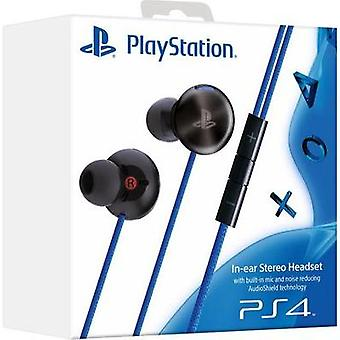 Gaming headset Stereo, Corded Sony Computer Entertainment PlayStation®4 In-Ear Stereo Headset In-ear Black/blue