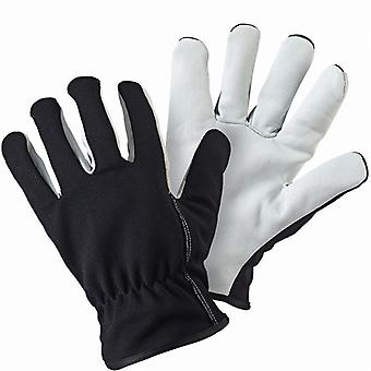 Briers Lined Dual Black Leather Gardening Gloves  - Large