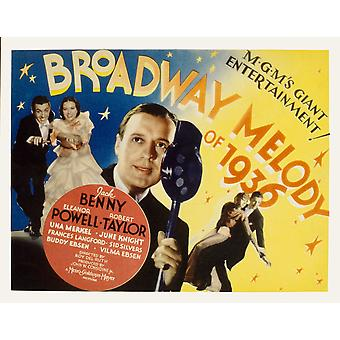 Broadway Melody Of 1936 Eleanor Powell Robert Taylor Jack Benny 1935 Film Poster Masterprint