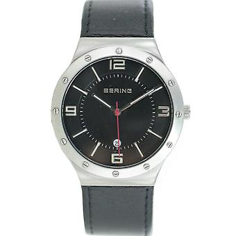 Bering mens watch wristwatch slim classic - 12739-402 leather