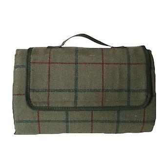 Lyx grön Tweed picknick-filt