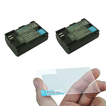 2 x Dot.Foto LP-E6 Battery (1600mAh) & LCD Screen Protector for Canon EOS 5D Mark III