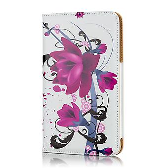 Design book case for Tesco Hudl 2 - Purple Rose