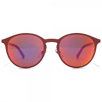 Gucci Metal Keyhole Round Sunglasses In Red