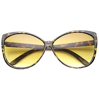 Womens Cat Eye Sunglasses With UV400 Protected Gradient Lens