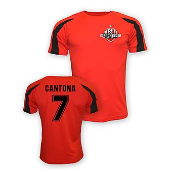 Eric Cantona Man Utd Sports Training Jersey (red)