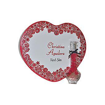 Christina Aguilera Red synd gave sæt 30ml EDP + Tin Heart Box