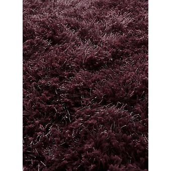 Warm Soft Touch Polyester Berry Shaggy Rug