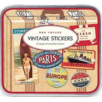 Cavallini Bon Voyage Vintage Style Stickers 24 Sheets Travel / Craft