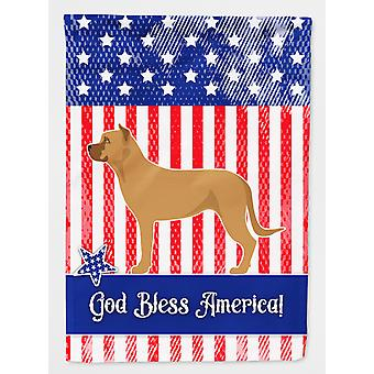 Alano Espanol Spanish Bulldog American Flag Canvas House Size