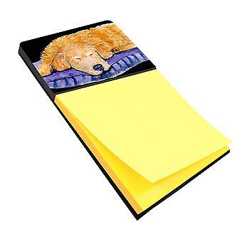 Golden Retriever Refiillable notitie houder of Postit Opmerking Dispenser