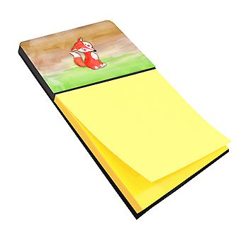 Carolines Treasures  BB7436SN Fox Watercolor Sticky Note Holder
