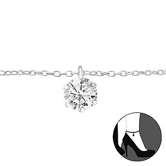 Round - 925 Sterling Silver Anklets - W27635X