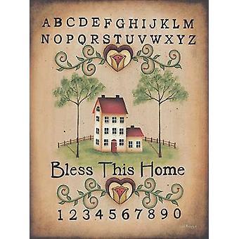 Zegenen dit huis Poster Print by Lisa Kennedy (12 x 16)